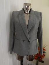 NEXT Grey Suit Jacket Blazer Size 14p 14 P Petite Ladies RP Wool Blend
