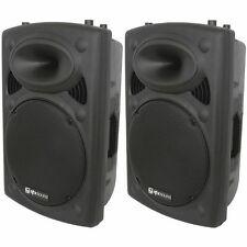 "2 x QTX qr15k 15 "" 800W Attivo Altoparlante Portatile COPPIA DJ Discoteca Sound System PA"