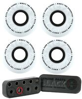 RICTA SKATEBOARD WHEELS 56mm Clouds 92a White/Black (4 Pack) Independent Bearing