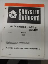 1982 Chrysler Outboard 9.9 hp Parts Catalog