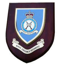 RAF Regiment Royal Air Force Wall Plaque UK Hand Made for MOD Military