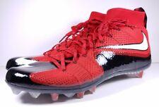 Nike Size 15 Vapor Untouchable Flyknit TD Football Cleats 707455-602 Red Black