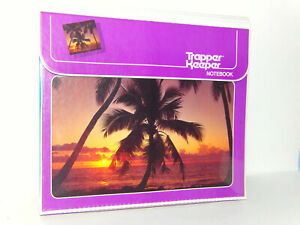 Vintage Trapper Keeper Notebook Miami Palm Trees 2 Folders 29096