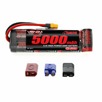 Venom 8.4V 5000mAh 7 Cell RC NiMH Battery Flat Pack with Deans EC3 Traxxas Plug