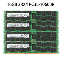 For Samsung 16GB 2RX4 PC3L-10600R DDR3L-1333MHZ ECC REG Server Memory Module