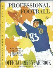 1955 Official NFL Yearbook Professional National Football League Anniversary