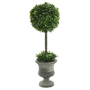 "Vickerman 21"" Artificial Green Boxwood Topiary In Container"