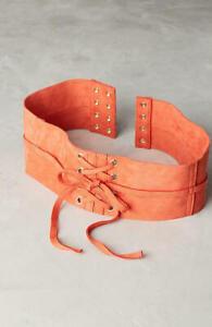 Anthropologie Lace-Up Corset Belt Size M