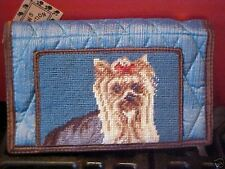 Yorkie ~ Needlepoint Quilted Wallet