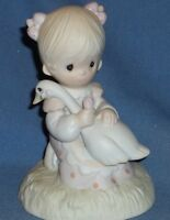 """PRECIOUS MOMENTS  FIGURINE """"GOD IS LOVE'   DATED 1980"""