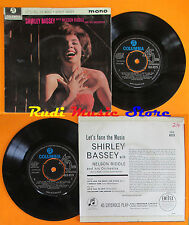 LP 45 7'' SHIRLEY BASSEY NELSON RIDDLE Let's face the music I should cd mc dvd