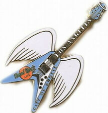 Hard Rock Cafe LOS ANGELES City Angels Wings Guitar PIN Catalog #5001 Clasp Back