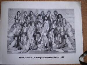1989 1990 Dallas Cowboys 8X10 Photo Cheerleaders original Black and white