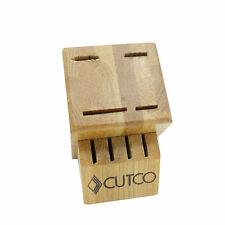CUTCO Knife Block 8 Slot Honey Oak Wood Made in USA Free Shipping