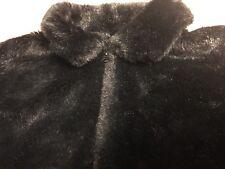 GIRL'S Sz XL 14 black Faux Fur Zip Sweater Jacket CHILDREN'S PLACE
