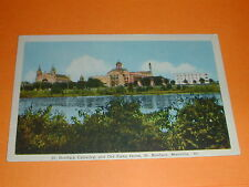 St. Boniface Cathedral and Old Folks Home, St. Boniface, Manitoba Postcard