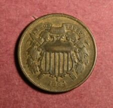 1864 Two Cent Pc. Large Motto VF+ WE visible completely