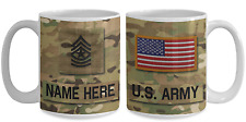 US Army Personalized Mug|Sergeant Major|E9|US Army Gift for Dad/Mom/Son/Daughter
