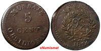 France Anvers. Antwerp Louis XVIII 5 Centimes 1814 JLGN aVF RARE KM 4.1 (7110)