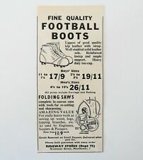 1949 Fine Quality Football Boots Ridgway Stores Grovesnor Street Manchester