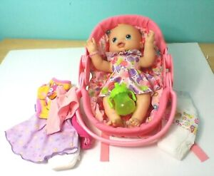 2006 WIGGLES & GIGGLES BABY ALIVE,WORKS GREAT, CARRIER/CLOTHES/DIAPERS/SIPPY CUP