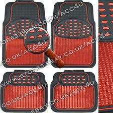 Essuyer facile ensemble de bord rouge brillant Tapis de voiture heavy duty finition en aluminium protecteurs