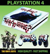 PS4 Skin Joker Bloody Why So Serious Batman Sticker + Pad decal Vinyl LAID