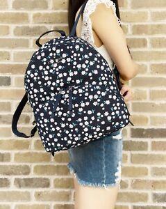 Kate Spade Karissa Floral Toss Daisy Blue Large Nylon Backpack Book Bag