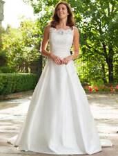Lea-Ann Belter Emily Aline Ivory Silk Sleeveless Designer Wedding Dress Train 10