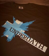UNDEROATH STOP SAYING THAT WE'RE INVINCIBLE T-Shirt Hardcore YOUTH LARGE NEW