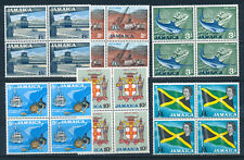 JAMAICA 1964 DEFINITIVES SG227/232 (HIGH VALUES) BLOCKS OF 4 MNH