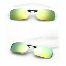 Polarized Clip On Flip-up Driving Glasses Day&Night Vision Lens UV400 Sunglasses