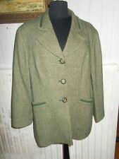 Veste blazer laine/alpaga chevrons vert WEILL 46FR 3 boutons