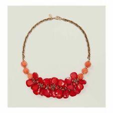 Ann Taylor LOFT Women's Red Peach Petal Bead Short Necklace NWT 44.50