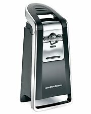 Hamilton Beach 76606ZA Smooth Touch Can Opener, Black and Chrome, New