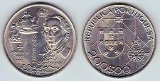 PORTUGAL: 200 Escudos 1992 Colón y las 3 carabelas NUEVO MUNDO S/C