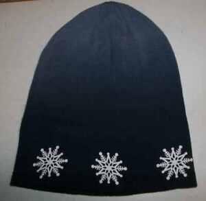 Uni-Sex Ombre Blue Snowflake Beanie Cap