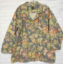 Womens Garden Gear Extra Large Long Sleeve Floral  Multi Color Cotton Jacket