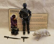 GI JOE 1985 Snake Eyes Action Figure v2 100% Complete w Timber and File Card