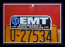 EMT Emergency Medical Technician FIRE rescue License Plate Topper ems