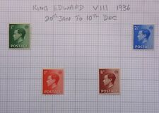 Great Britain Sg457/460 Keviii Mint Hinged On Album Page