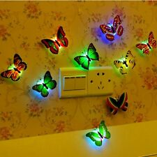 Trendy Multi-Color Butterfly LED Night Light Up Party Room Desk Decoration Tools