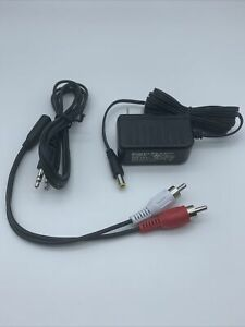 OEM Sony Power Adapter Plug Aux RCA Adapter For WH-RF400 Home Theater Headphones