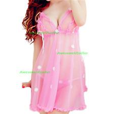 Sexy-Lingerie-Sleepwear-Women's-G-string-Dress-Underwear-Babydoll-Lace-Nightwear