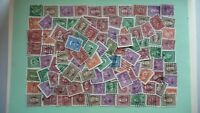 10753 - lot 100 timbres seconds hommes