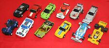 LOT 10 VOITURES circuit de voitures, miniatures, Jouef, Carrera, Artin POLISTIL