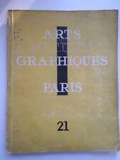 Arts et Métiers Graphiques N°21 Litho André Derain Vlaminck Bois Le Campion 1931