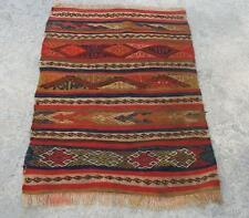 "Turkish antique pastel vintage oushak cicim djicim carpet rug kilim   3'2"" x 2'4"