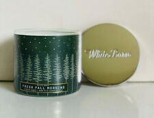 NEW! BATH & BODY WORKS WHITE BARN 3-WICK SCENTED CANDLE - FRESH FALL MORNING