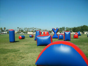 11 piece Inflatable Air Bunker Set for Paintball Airsoft Nerf Archery Laser Tag